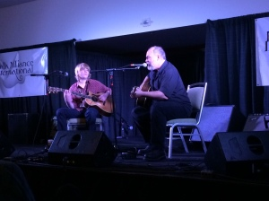 William with his dad, Jon Dee Graham at Folk Alliance International