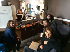 Bent Knee in the studios of 90.1 FM (3 / 19 / 14)