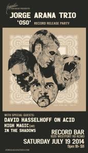 Jorge Arana Trio Album Release on HayMaker Records