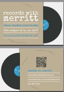 Records With Merritt, 1614 Westport Road, Kansas City, Missouri 64111. More info at: www.recordswithmerritt.com
