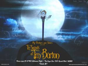 MY BROTHERS & SISTERS PRESENTS: THE SOUNDS OF TIM BURTON, Friday, October 31, at 9:00 pm, at Czar, 1531 Grand Blvd, KCMO.