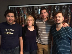 Matthew Roth & Nan Turner of Schwervon!, with Brenton Cook of Haymaker Records, and Dedric Moore of Monta At Odds and Gemini Revolution, on the Oct. 1, 2014, Wednesday MidDay Medley.