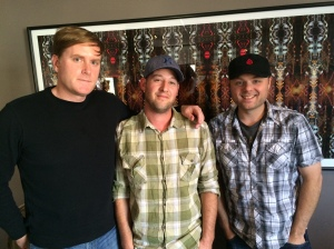 Gus Rechtien, Anthony Avis, Brandon Skeens, of Kangaroo Knife Fight in the 90.1 FM Studios on Wednesday Midday Medley, Nov. 12, 2014