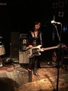 Michelle Bacon before a Philistines show at recordBar