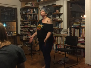 Poet Jen Harris at Prospero's Books, Saturday, February 27, 2016