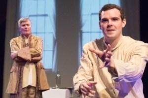 Robert Gibby Brand who plays Antonio Salieri and Michael Reiser plays Wolfgang Amadeus Mozart