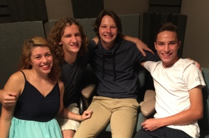 Mikala Petillo, Nathan Jurries, Jacob Newland, and Patrick Newland of American Slim on the August 10, 2016 edition of Wednesday MidDay Medley